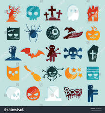 set halloween icons stock vector 209184709 shutterstock