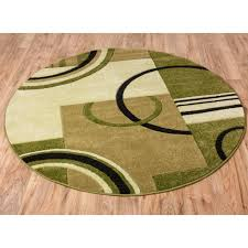 Green And Brown Area Rugs Echo Shapes U0026 Circles Light Green Modern Geometric Comfy Casual