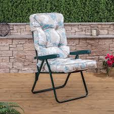 Garden Recliner Cushions Alfresia Garden Recliner Folding Green Adjustable Chair With
