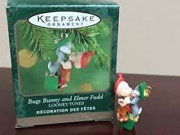 1999 hallmark miniature ornament bugs bunny and elmer fudd ebay
