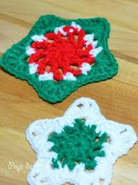 crochet christmas star coasters pops de milk