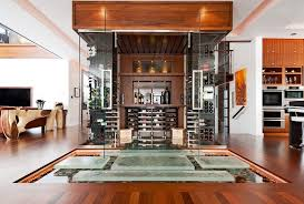 in floor wine cellar contemporary wine cellar with glass floor by jeremy locke zillow