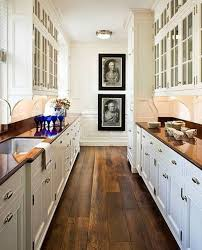 Designing A Galley Kitchen White Country Galley Kitchen With Design Inspiration 45807
