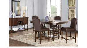 counter height dining room sets stanton cherry 5 pc counter height dining room traditional