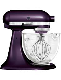 luxury kitchen with dark purple gloss kitchen aid stand mixer 10