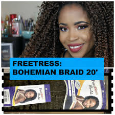 how to style crochet braids with freetress bohemia hair hair review freetress bohemian braid crochet hairstyle youtube