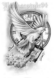 white dove with an hourglass tattoo by yankeestyle94 on deviantart