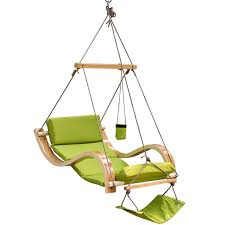deluxe hanging hammock lounger chair with cup holder