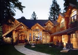 cabin style home mountain and lake home curb appeal mountain architects