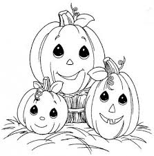 baby pumpkin coloring cute coloring pages halloween