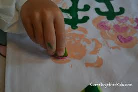 come together kids celery printed roses