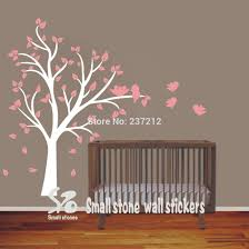 popular kids wall art decor buy cheap lots free shipping new large tree and birds vinyl wall decal stickers for baby