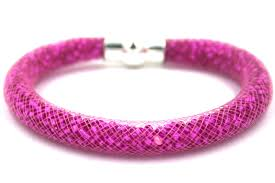 bracelet pink images Starburst mesh bracelet kit hot pink 183 beads with pink mesh jpg