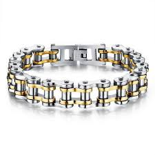 bracelet gold man silver images Cool stainless steel men 39 s biker chain bracelet project yourself jpg