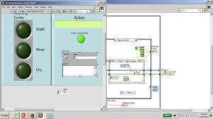 mini projectd washing machine controller board labview full block