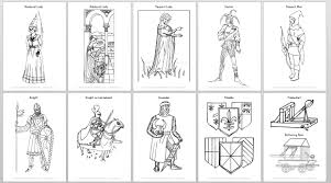 medieval coloring pages medieval coloring book coloring page