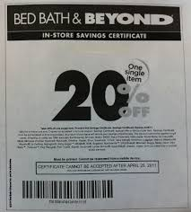 20 Off Coupon Bed Bath And Beyond In Store Printable Coupons Discounts And Deals Printable Coupons