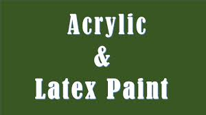 difference between acrylic and latex paint acrylic vs latex