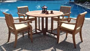 amazonia cabana piece square teak wood patio dining set outdoor