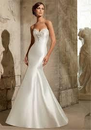 low back satin wedding dress matrimonio custom fit robe de mariage