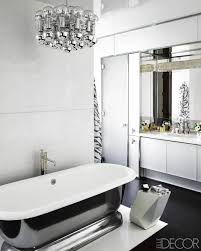 black and white themed bathroom home design ideas