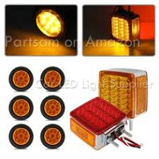 led clearance lights motorhomes partsam 2pcs white 5 x3 rectangle stop turn tail 14 led reverse