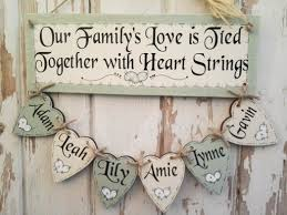 wooden personalised plaque family tree five design