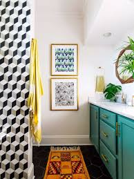Vintage Bathroom Decor Vintage Bathroom Decor With Bold Colors And Geometric Shapes