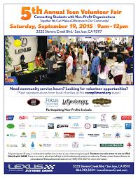 5th annual teen volunteer fair happening tomorrow journal