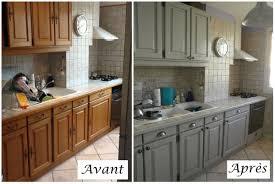 relooker meuble de cuisine la cuisine relookée cuisine en chêne gris clair et relooker