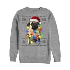 pug sweater lost gods sweater pug lights mens graphic