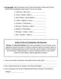 electoral college map worksheet teacherlingo com