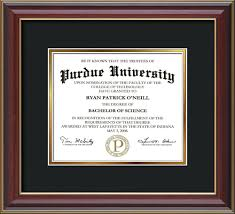 diploma frame purdue diploma frame che lacquer no embossing black on