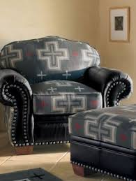 southwestern chairs and ottomans idea recover red leather chair ottoman with pendleton arts