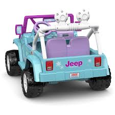 car jeep power wheels disney frozen jeep wrangler 12 volt battery powered