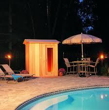 elegant backyard sauna architecture nice
