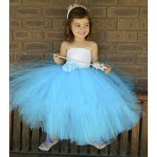 aqua blue tutu dress white and blue kids dress for wedding girls