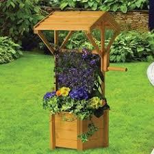 r14 515 wishing well planter using bricks and wood vintage plan