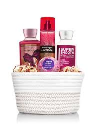 bath gift set a thousand wishes white basket gift set bath works
