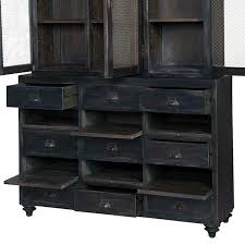 guildmaster european farmhouse display cabinet vintage