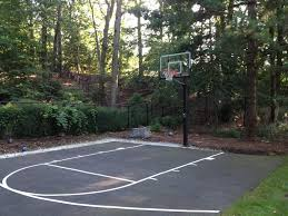 Basketball Court In Backyard Cost by Best Backyard Basketball Court
