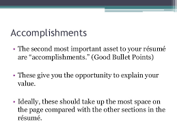 Accomplishments Examples Resume by Resume Theory 101