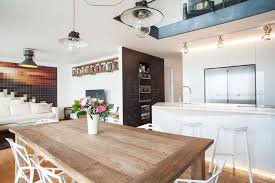 modern cornlofts triplex reconstruction by b2 architecture architecture modern minimalist kitchen and dining room design with black and white interior color plus