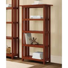 sauder premier 5 shelf composite wood bookcase alaterre furniture mission cherry open bookcase amia0760 the