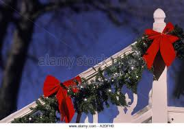 Handrail Christmas Decorations Home Handrail Christmas Stock Photos U0026 Home Handrail Christmas