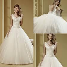 Greek Style Wedding Dresses V Neck Ball Gown Tulle Crystal Beading Greek Style Wedding Dress