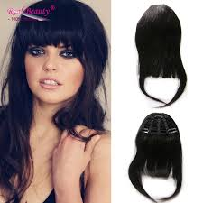 clip in fringe 2016 new fashion clip in bangs human hair fringe 100
