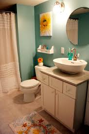 small round mirrors in the bathroom home