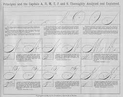 spencerian scripttaken from real penwork letterforms