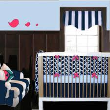 navy blue and pink nursery ideas